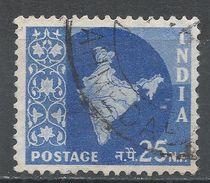 India 1958. Scott #312 (U) Map Of India, Carte Géographique - 1950-59 République