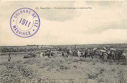Ref U554- Maroc -militaires - Militaria -cachets - Cachet Militaire -colonne De Fez - Vers Fez  -convoi De Chameaux  - - Sin Clasificación