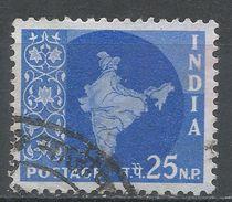 India 1958. Scott #312 (U) Map Of India - 1950-59 République
