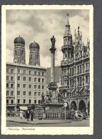 1956 MÜNCHEN Marienplatz FG V  SEE  2 SCANS - Muenchen