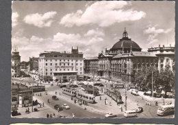 1958 MÜNCHEN Karlsplatz Mit Hotel  FG V  SEE  2 SCANS Tram Und Bus - Muenchen