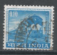 India 1966. Scott #411 (U) Electric Locomotive, Locomotive Électrique - Inde