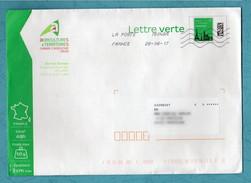 PAP Pret à Poster Nouveau Lettre Verte 50g 16U316 Ayant Circulé En-tête Chambre D'Agriculture De La Creuse - Entiers Postaux