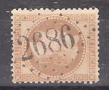 Empire Lauré N° 28 , 10 C Bistre Obl GC 2686 De NOTRE DAME DE BRIANCON, Savoie, Indice 15, Belle Frappe, TTB - 1863-1870 Napoleon III With Laurels