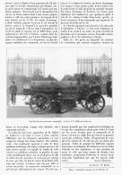 NOUVELLE  BALAYEUSE-ARROSEUSE AUTOMOBILE Systéme F.G. MULLER De CARDEVAR  à PARIS    1905 - Transportation