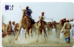 Chameau Camel  Animal Jungle  Télécarte OMAN  Phonecard  Telefonkarte (S.239) - Oman