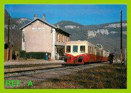 Train St Claude Lyon Perrache Quitte Gare Jeurre Vaux Jumelage De Picasso - Stations - Met Treinen
