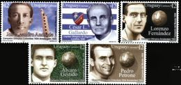 URUGUAY, 2002, URUGUAYAN SPORTSMEN, YV#2041-45, MNH - Uruguay