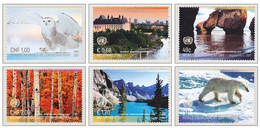 United Nations 2017 World Environment Day Canada Hopewell Rocks Park Moraine Lake MNH ** - Gemeinschaftsausgaben New York/Genf/Wien