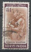 India 1966. Scott #419 (U) Woman Writing Letter, Chandella Carving, 11th Century. Femme, Sculpture - Inde