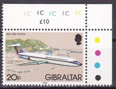 Gibraltar, 1985, 441 X II, Freimarken: Flugzeuge. MNH **, - Gibilterra