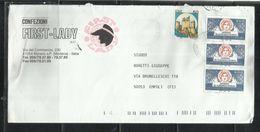 ITALIA REPUBBLICA ITALY REPUBLIC 1993 GIORNATA DELLA FILATELIA STAMP DAY LIRE 600 LETTERA COVER - 6. 1946-.. Repubblica