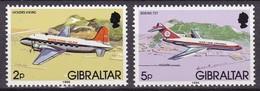 Gibraltar, 1986, 433+436 Y III, Freimarken: Flugzeuge. MNH **, - Gibilterra