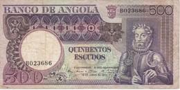 BILLETE DE ANGOLA DE 500 ESCUDOS DEL AÑO 1973 (BANKNOTE) - Angola