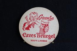 * Sous Bock / Bierviltjes / Coasters : 2 / Gueuze Caves Bruegel - Brasserie / Brouwerij - Brabrux Wolvertem    .- - Sous-bocks