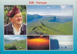 Faroe Islands PPC Færøerne Eidi Frederik Eidesgaard KLAKSVIG 1999 VORDINGBORG (2 Scans) - Färöer