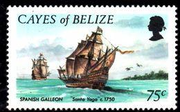 T1075 - CAYES BELIZE , Yv N. 7  ***  MNH. Galeone - Belize (1973-...)