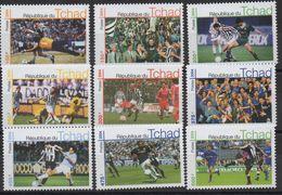 Tchad Chad Tschad 2004 Mi. ? Football Fußball Soccer MNH** 9 Val. RARE ! - Chad (1960-...)