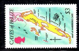 T1076 - CAYES BELIZE , 3 Dollari Yv N. 8  ***  MNH. - Belize (1973-...)