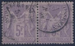 France - Type Sage N°95 (type II - N/U) Paire Oblitéré - TB - Cote 220 € - (F173) - 1876-1898 Sage (Type II)