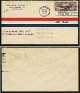 A4707) US Flight Cover From Pforia 05/13/31 With Special Cancellation - Briefe U. Dokumente