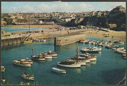 Newquay Harbour And Towan Beach, Newquay, Cornwall, 1964 - J Arthur Dixon Postcard - Newquay