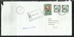 ITALIA REPUBBLICA ITALY REPUBLIC 1997 PIETRO VERRI LIRE 3600 LETTERA RACCOMANDATA REGISTERED LETTER - 6. 1946-.. Repubblica