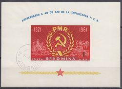 RUMANIA 1961 HB-50 USADO - Blocks & Kleinbögen