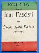 Fascismo - Musica - Raccolta Degli Inni Fascisti Coi Canti Della Patria - 1924 - Music & Instruments