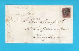 1841. PENNY RED ( HA ) - Letter Travelled 1841. Birmingham To Levington - 1840-1901 (Victoria)