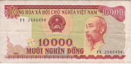 BILLETE DE VIETNAM DE 10000 DONG DEL AÑO 1993  (BANKNOTE) - Vietnam