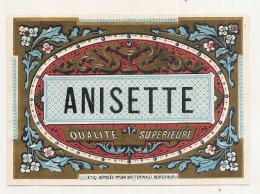 Superbe étiquette - Anisette Modele 34 - (point Colle Dos) - 1930 - Whisky