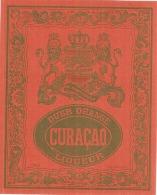 Superbe étiquette -  Lion -  CURACAO - Dubb Orange  ( 4 Points De Colle Dos) - Whisky