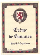 Creme De Bananes Qualité Supérieure   - - (4 Point De Colles Dos ) - Whisky