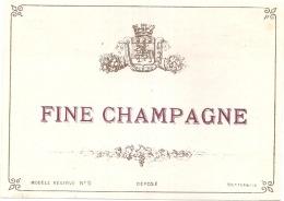 COGNAC  Fine Champagne Impression Dos Modele 9  - (4 Points De Colles Dos Aminci ) - Whisky
