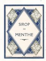 Sirop De Menthe  - étiquette D'imprimeur  Modele 311 - (4 Points De Colles Dos Aminci ) - Etiquetas