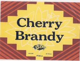 - étiquette - CHERRY BRANDY   - (4 Points De Colles Dos Aminci ) - Whisky