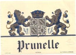 - étiquette - Prunelle    - (4 Points De Colles Dos Aminci ) - Whisky