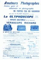 "PUB "" VERASCOPE  Et GLYPHOSCOPE  RICHARD ""  1905 (1) - Photographie"