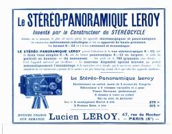 "PUB "" STEREO-PANORAMIQUE LEROY  ""  1905 (1) - Photographie"