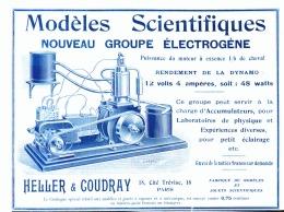 """PUB  MODELES SCIENTIFIQUE  """" HELLER & COUDRAY  """"  1905 (1) - Sciences & Technique"""