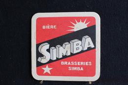 Sous Bock / Bierviltjes / Coasters,  Brasserie / Brouwerij, Bière Simba Brasserie Du Katanga Congo Belge - Sous-bocks