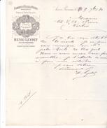 13 Aix En Provence.Lettre De 1884 Fabrique D'huiles D'olives Henri LEYDET. Belle Illustration, Tb état. - 1800 – 1899