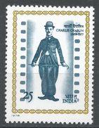 India 1978. Scott #797 (MNH) Charlie Chaplin, Actor. Acteur - Inde