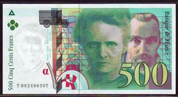 FRANCE: N°76-1, 500F Pierre Et Marie Curie. Date1994. - 1992-2000 Dernière Gamme
