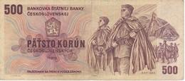 BILLETE DE CHECOSLOVAQUIA DE 500 KORUN DEL AÑO 1973  (BANKNOTE) - Checoslovaquia