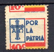 Viñeta Nº 13  De Asturias Con Desplazamiento. - Verschlussmarken Bürgerkrieg