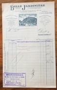 PARIS 1920  BELLE JARDINIERE  FATTURA  ORIGINALE D'EPOCA CON VEDUTA - Francia