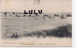 MILITARIA : F M Courrier 1914-18 : Sur ; Pont Saint Esprit Le Pont Sur Le Rhône ( édit. J Brun A Carpentras N° 11 ) - Militaria