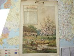Calendrier Vertical L'Urbaine Compagnie Anonyme D'assurances Sur La Vie Humaine 1908 - Calendari